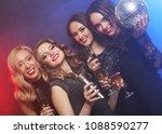 four beautiful stylish girls... | Shutterstock . vector #1088590277