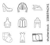 season clothes icon set.... | Shutterstock . vector #1088596241