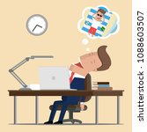 businessman in the workplace... | Shutterstock .eps vector #1088603507