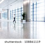 people silhouette in hall of... | Shutterstock . vector #108861119