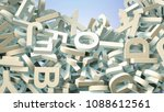 a lot of letters falling from... | Shutterstock . vector #1088612561