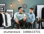 stylish father and son in... | Shutterstock . vector #1088613731