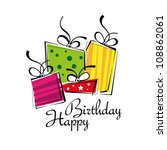 birthday card  gift card  gifts ... | Shutterstock .eps vector #108862061