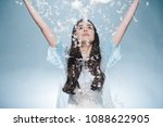 beautiful young lady throwing... | Shutterstock . vector #1088622905