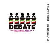 presidential debate. elections... | Shutterstock .eps vector #1088632481