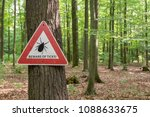 tick insect warning sign in... | Shutterstock . vector #1088633675