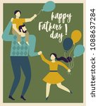 inscription happy father's day. ... | Shutterstock .eps vector #1088637284