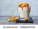 tasty dessert. glass of... | Shutterstock . vector #1088654534