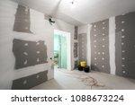 metal frames and plasterboard ... | Shutterstock . vector #1088673224