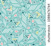 pastel tribal abstract seamless ... | Shutterstock .eps vector #1088676764