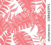 seamless pattern with tropical...   Shutterstock .eps vector #1088683991