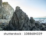 volcanic rock forms patterns in ... | Shutterstock . vector #1088684339