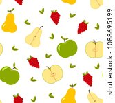 seamless pattern  with whole... | Shutterstock .eps vector #1088695199