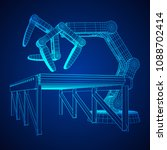 robotic arm manufacture... | Shutterstock .eps vector #1088702414