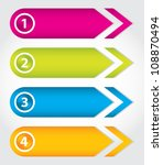 special arrow stickers set with ... | Shutterstock . vector #108870494