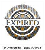 expired arabesque style badge.... | Shutterstock .eps vector #1088704985