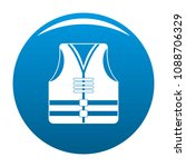 rescue vest icon. simple...   Shutterstock .eps vector #1088706329
