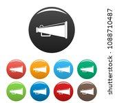 bullhorn icon. flat... | Shutterstock .eps vector #1088710487