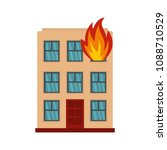 burning house icon. flat...   Shutterstock .eps vector #1088710529