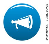 megaphone with handle icon.... | Shutterstock .eps vector #1088710931