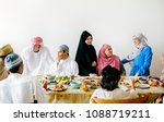 middle eastern suhoor or iftar... | Shutterstock . vector #1088719211