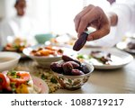 middle eastern suhoor or iftar... | Shutterstock . vector #1088719217