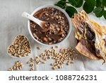 rice bean cuttlefish porridge   ... | Shutterstock . vector #1088726231