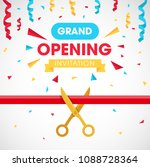 grand opening background with... | Shutterstock .eps vector #1088728364