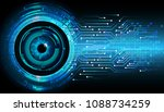 binary circuit board future... | Shutterstock .eps vector #1088734259