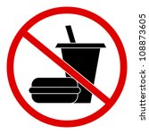 circle no food and drink sign ... | Shutterstock . vector #108873605