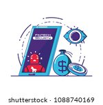 smartphone with financial... | Shutterstock .eps vector #1088740169