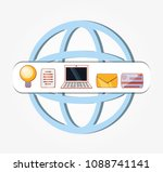 sphere with social media set... | Shutterstock .eps vector #1088741141