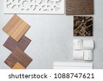 samples of material  wood   on... | Shutterstock . vector #1088747621