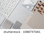 samples of material  wood   on... | Shutterstock . vector #1088747681