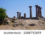 doric columns of the ancient... | Shutterstock . vector #1088752859