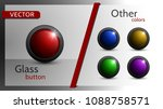 set of vector buttons of...