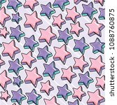stars pattern design | Shutterstock .eps vector #1088760875