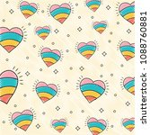 hearts pattern design | Shutterstock .eps vector #1088760881