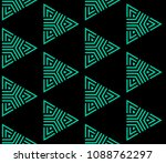 green and black seamless... | Shutterstock . vector #1088762297