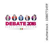 presidential debate. elections...   Shutterstock .eps vector #1088771459