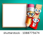 back to school vector... | Shutterstock .eps vector #1088775674