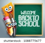 back to school banner with... | Shutterstock .eps vector #1088775677