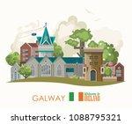 Galway City. Ireland Vector...