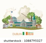 Dublin City. Ireland Vector...