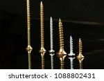 many silver and golden nails...   Shutterstock . vector #1088802431