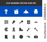 modern  simple vector icon set... | Shutterstock .eps vector #1088808611