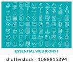 essential mixed web icons set...