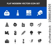 modern  simple vector icon set... | Shutterstock .eps vector #1088818505