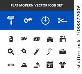 modern  simple vector icon set... | Shutterstock .eps vector #1088822009