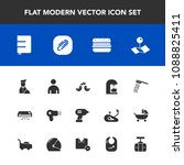 modern  simple vector icon set... | Shutterstock .eps vector #1088825411